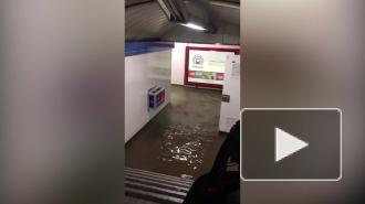 В Мадриде из-за ливня затопило несколько станций метро