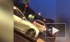 Видео: ВАЗ пробил ограждение на дороге в Московском районе