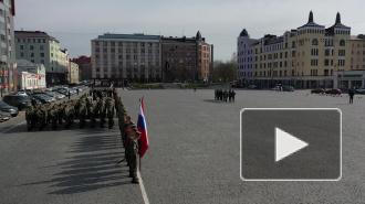 Видео: в Выборге прошла репетиция парада ко Дню Победы