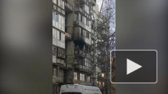 На Васильевском острове загорелась однокомнатная квартира