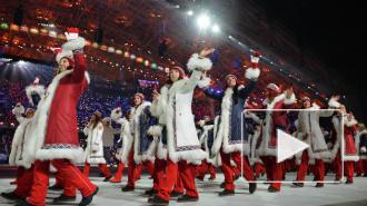 Роднина и Третьяк зажгли чашу Олимпийского огня в Сочи-2014; церемония открытия Олимпийских игр завершилась