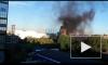 Пожар: на Дальневосточном проспекте черными клубами дыма затянуло небо