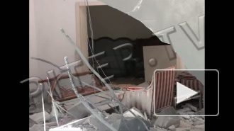 Война в Ливии: взорванный бункер Муамара Каддафи