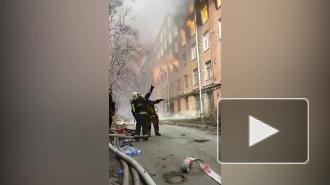 """Площадь возгорания на """"Невской мануфактуре"""" достигла 10 тыс. кв. метров"""