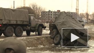 В парке Интернационалистов во время реконструкции боя в Афганистане грузовик ЗИЛ ушел под лед