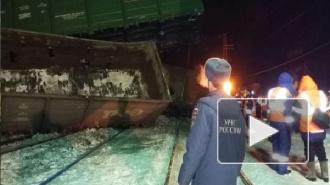 Крушение поезда под Омском: с рельсов сошли 22 вагона