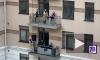 Петербургские музыканты устроили концерт на балконе