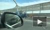 Видео: на ЗСД водитель БМВ врезался в припаркованное авто дорожной службы