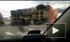 Очевидец заснял последствия серьезного ДТП с КАМАЗом на проспекте Обуховской Обороны