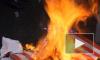 В Петербурге День независимости США отметили сожжением американского флага