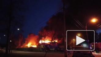 В Зеленогорске сгорел автосервис, его хозяин погиб от инфаркта