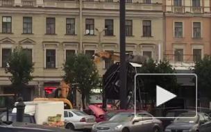 Массовый снос ларьков на Сенной площади продолжается: видеофакт