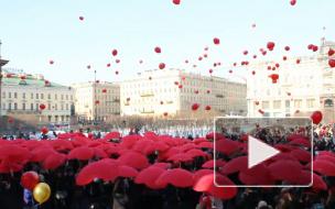 """Арт-моб """"Сердце Петербурга"""" стал самым романтичным подарком всем женщинам"""