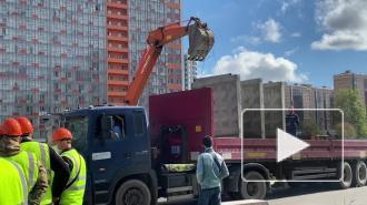 Парковку на Среднерогатской огораживают бетонным забором