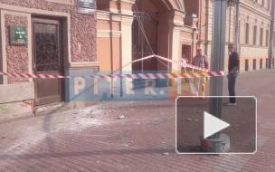 В доме №120 на Лиговском проспекте отвалился кусок балкона