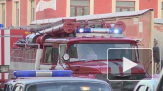 На Васильевском острове загорелся шиномонтаж, пожар тушили четыре машины