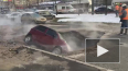На проспекте Славы машина полностью ушла под землю