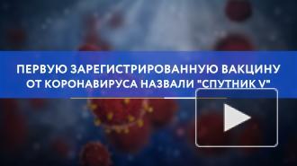 """Первую зарегистрированную вакцину от коронавируса назвали """"Спутник V"""""""