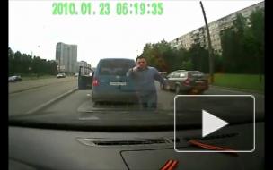 Кавказцы с травматом напали на водителя в Купчино