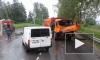 Появилось видео из Петербурга: фура протаранила автобус с пассажирами