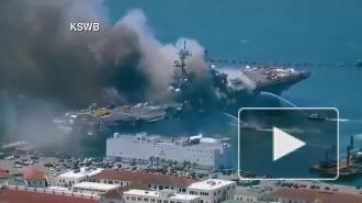 Пожар на военном корабле США обернется экологической катастрофой