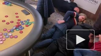 Видео: полиция нагрянула в подпольный клуб для азартных игр в Адмиралтейском районе