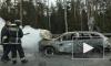 Перед пунктом оплаты на ЗСД загорелась машина: фото и видео