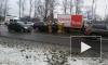 Появилось видео массового ДТП в Петербурге